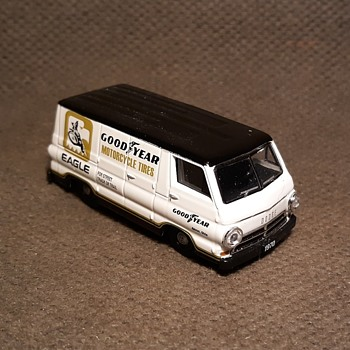 M2 Machines Dodge A100 Panel Van Goodyear Circa Now - Model Cars