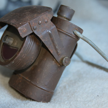 WWII British Blackout Flashlight  - Military and Wartime
