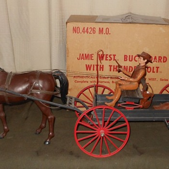 Jamie West Buckboard and Thunderbolt Set Mail Order Set - Toys