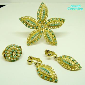 Sarah Coventry Brooch Set - Ocean Star - Costume Jewelry