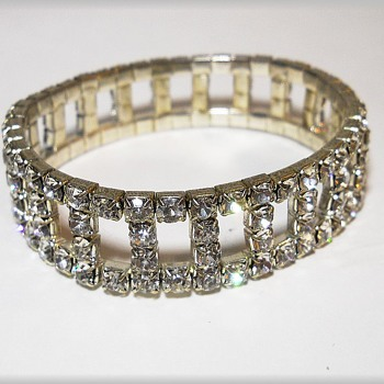 Just an old Bracelet with Costume Rhinestones - Costume Jewelry