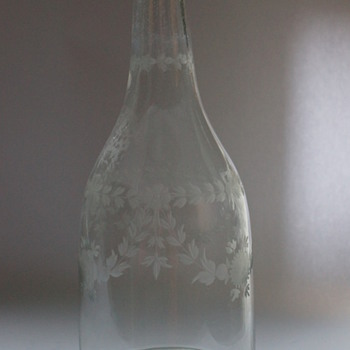 Very Old Cracked Decanter - Art Glass