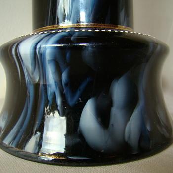 Josef Riedel (?) marble glass vase - Art Glass