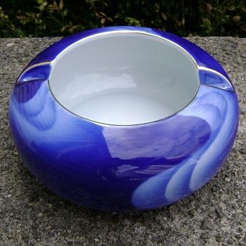 Vintage 1960's Fukagawa Wave Bowl Ashtray