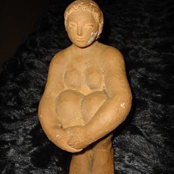Unfinish Sculpture Seated Woman - Fine Art