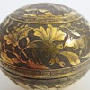 Chinese, JAPANESE? Finely Worked Brass Box~Cranes on top~Rats?, Mice? w/Flowers around