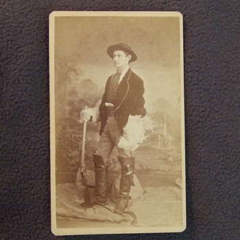 Flamboyant Hunter cdv - Photographs