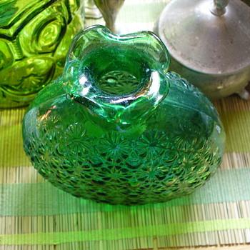 Green Vase - Glassware