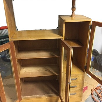 Solid Wooden Bookcase Storage Glass Doors Front Furniture Piece - Furniture