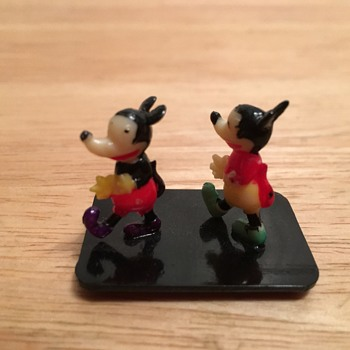 Mickey Mouse Celluloid Place Card Holder - 1928, 1930 - Advertising