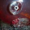 Genuine handmade red glass fish