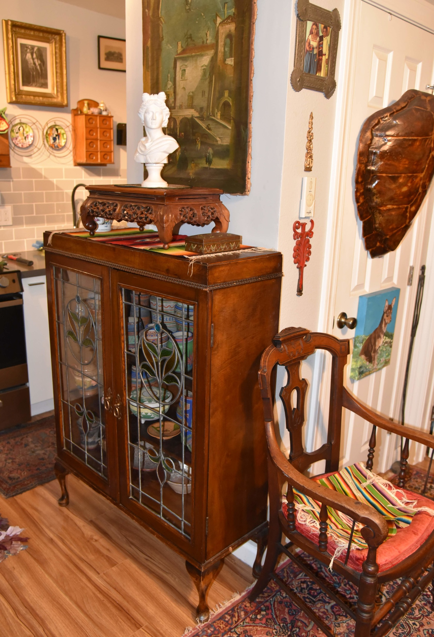 Antique China Cabinet With Stained Glass Doors Collectors Weekly