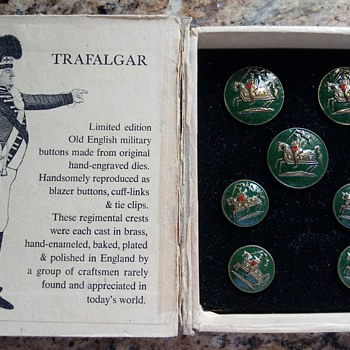 Trafalgar Old English Military Buttons, By Marley Hodgson - Military and Wartime