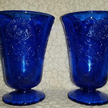 little blue cups  - Glassware