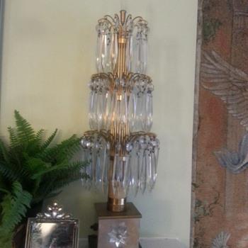 Vintage Crystal Waterfall (boudoir) Lamps - Lamps