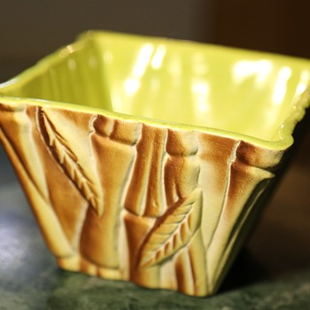Planter by Miramar -1951 Airbrushed California Pottery
