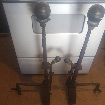 Antique Andirons / Fire Dogs