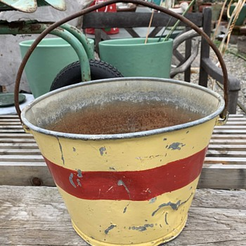 Fire Bucket? Old Painted Pail? - Tools and Hardware