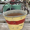 Fire Bucket? Old Painted Pail?