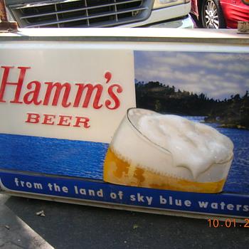 Hamms street sign - Breweriana