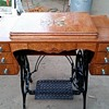 1920's Damascus Treadle Sewing Machine with Custom Wood Inlay