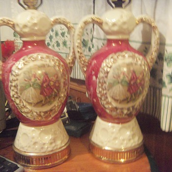 Pair of antique lamps signed M. Langboek Amsterdam Holland - Lamps