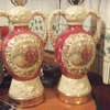 Pair of antique lamps signed M. Langboek Amsterdam Holland