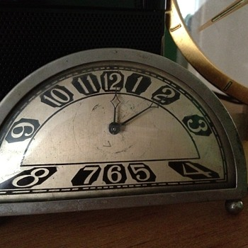 Silvercraft Deco Clock - Art Deco