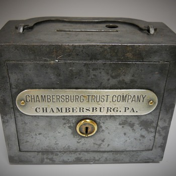 Promotional Advertising Bank, Chambersburg Trust Company, Chambersburg, PA, Circa 1900 - Coin Operated