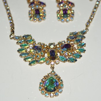 Sherman Earrings and Necklace (?) - Costume Jewelry