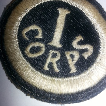 old Military I corps patch  - Military and Wartime