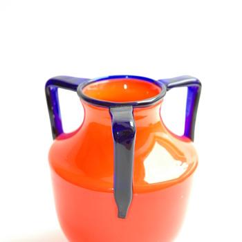 bohemian loetz tango glass vase - Art Deco