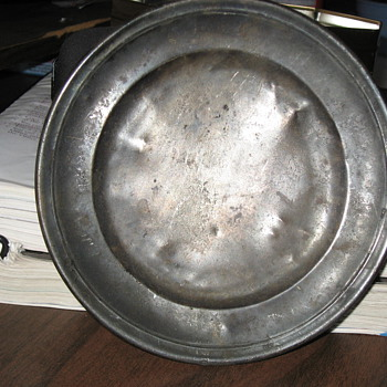 Pewter Plate - Kitchen