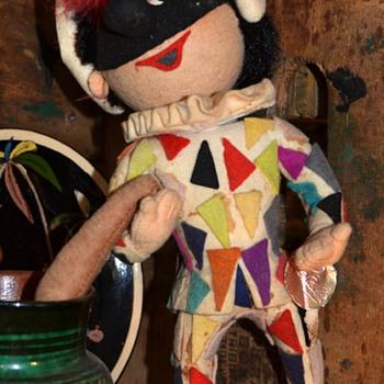 Court Juggler - Felt Doll by Rosalba in Italy - Dolls