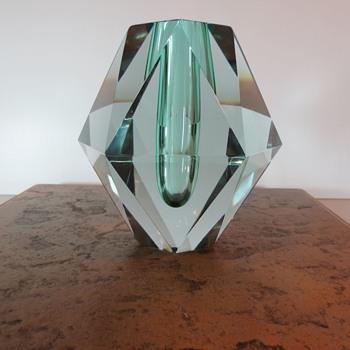 Chunky Swedish Vase - Art Glass