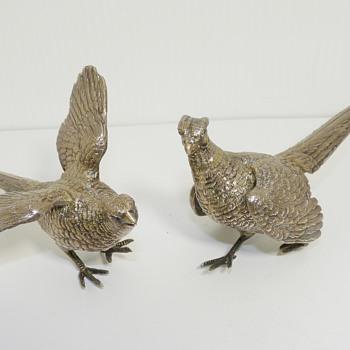 vintage pair of Pheasant 925 sterling silver, England?