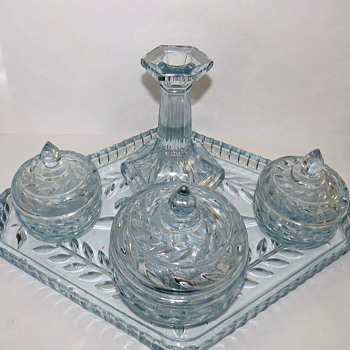 Sowerby Glass Dressing Table Set - County - Glassware
