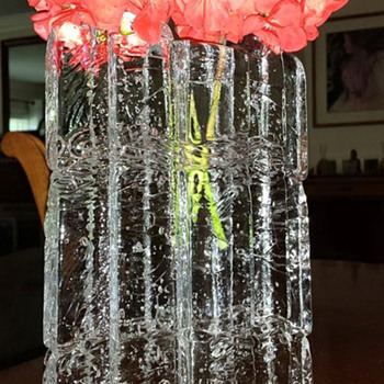Clear Glass Vase - Art Glass