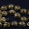 Delicate gold and rose cut diamond filigree bracelet
