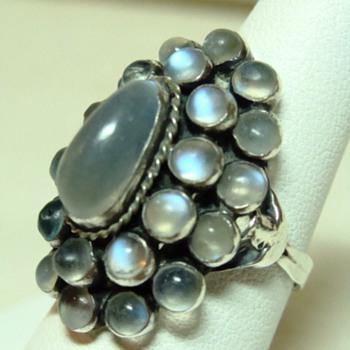 Deco Moonstone Ring  - Fine Jewelry