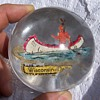 Old Wisconsin Dells Souvenir Glass Paperweight