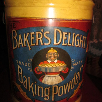 Antique Baker's Delight Baking Powder Tin - Kitchen