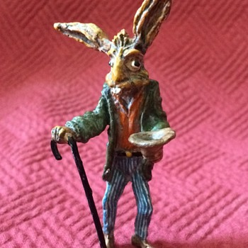 Austrian Cold Painted Bronze Panhandler Hare - Animals