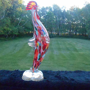My real Cornflake Rooster - Art Glass