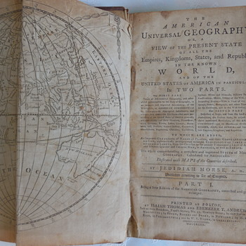 The American Universal Geography View Of The Present State In The Known World printed 1793 - Books