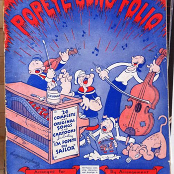 Popeye Song Folio 1936 - Music Memorabilia