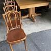 Antique Oak Extendable Pedestal Table