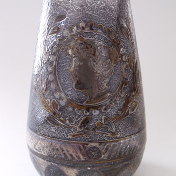 Bohemian or French vase with Portrait. - Art Glass