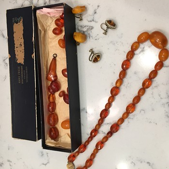 Vintage Amber necklace set? - Costume Jewelry