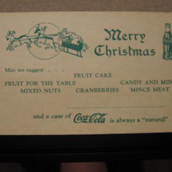 Coca-Cola Blotter and Postcard - Coca-Cola